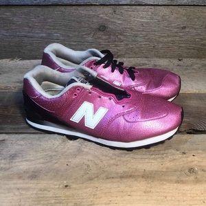 New Balance 574 Runner Women's Size 7 Pink Black